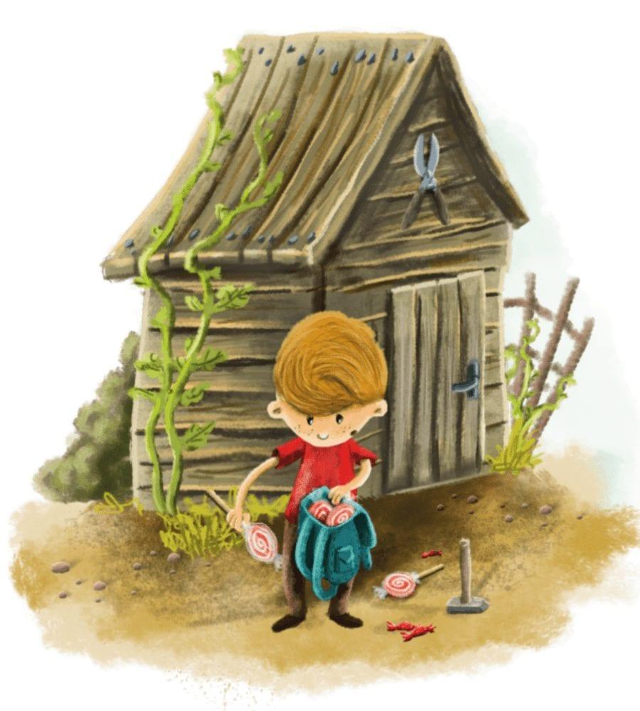 chłopiec i dom
